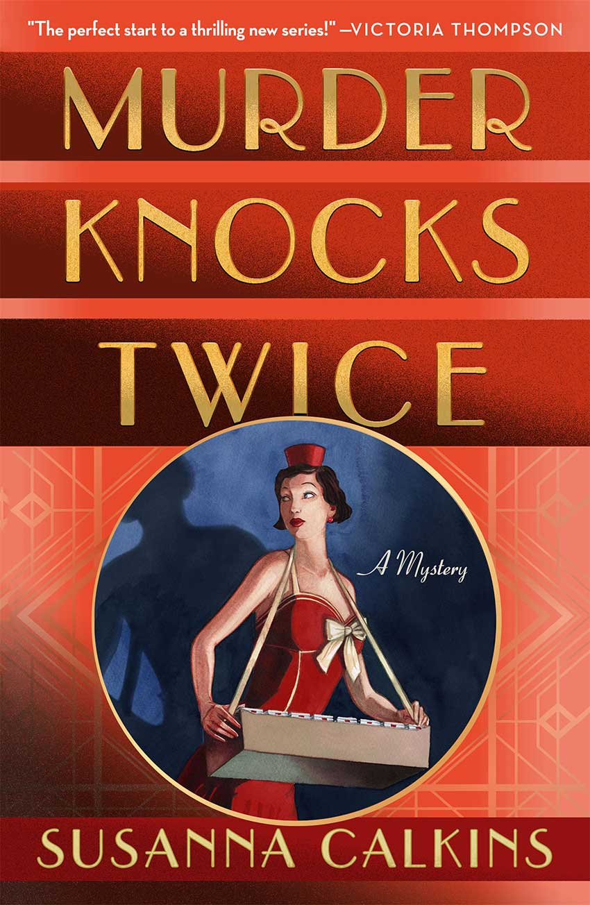 New cover for Murder Knocks Twice by Susanna Calkins