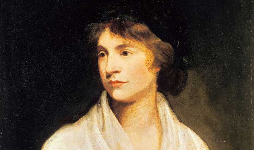 Mary Wollstonecraft - detail from a painting by John Odie, about 1797.