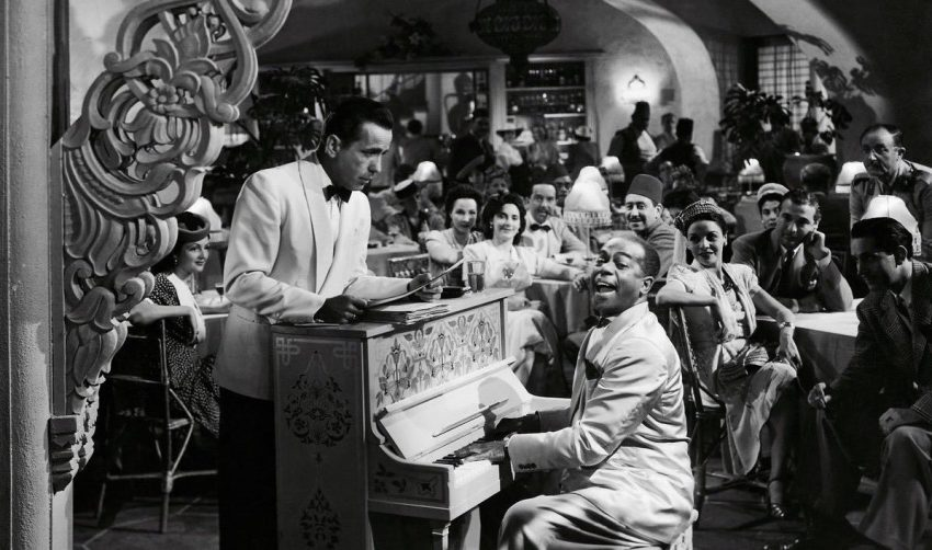 Scene from the movie Casablanca.