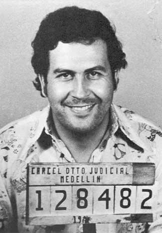 Pablo Escobar's mugshot.